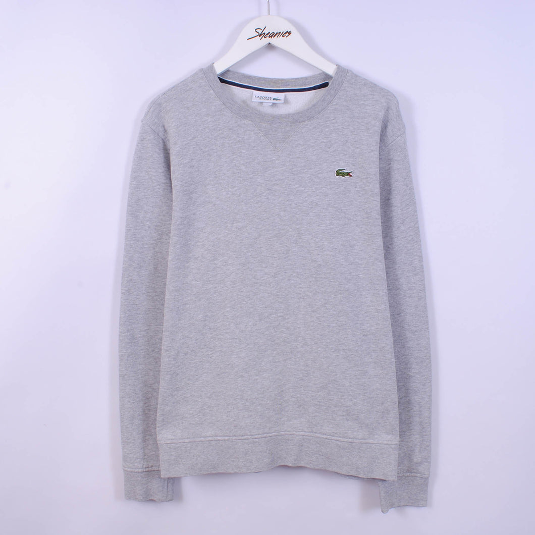 Lacoste Sweatshirt In Grey Size M