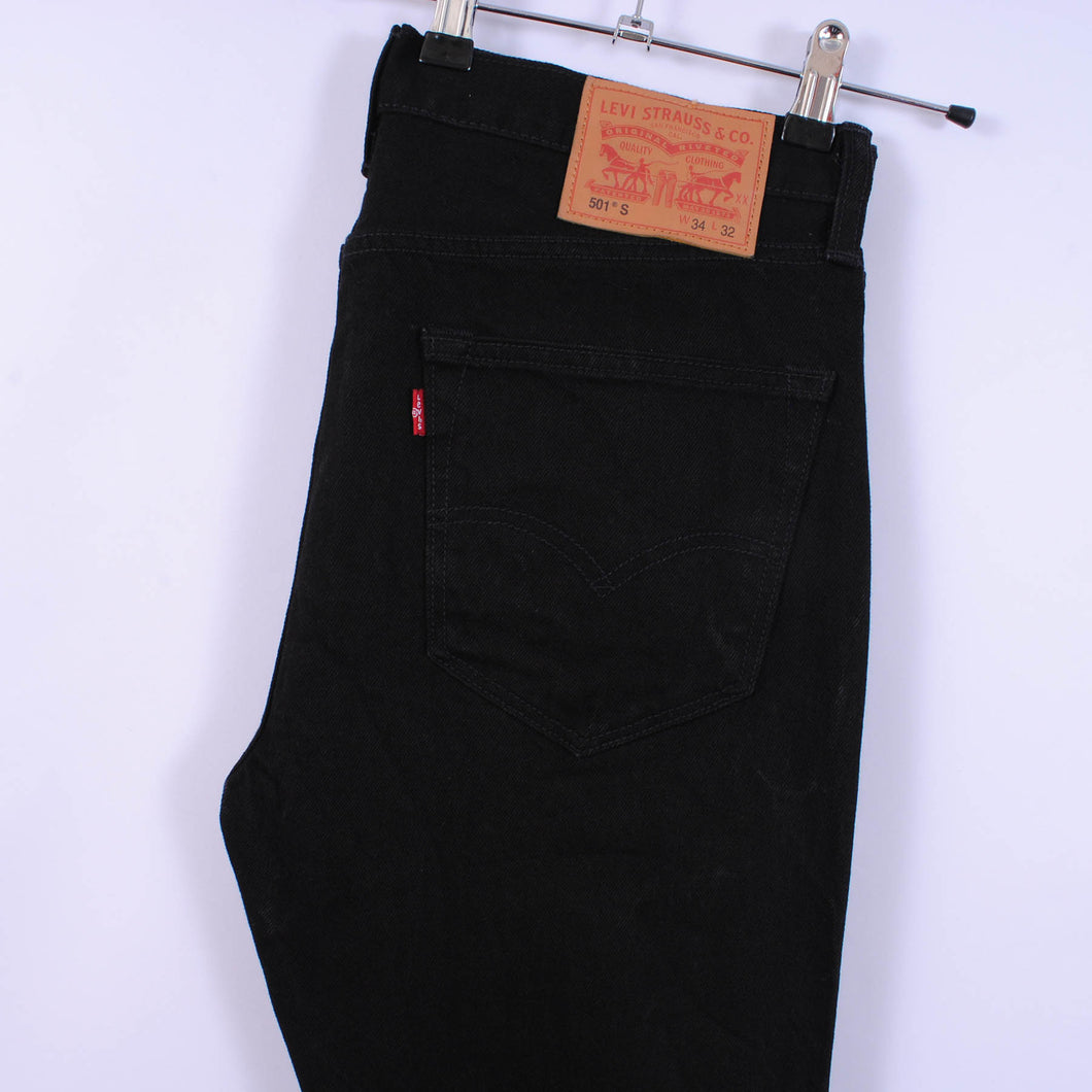Levi's 501S Skinny Fit Jeans In Black W35 L31
