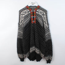 Load image into Gallery viewer, Patterned Norwegian Knit Cardigan With Clasps Size XL