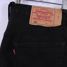 Load image into Gallery viewer, Vintage Levi's 501 Jeans In Black W32 L34