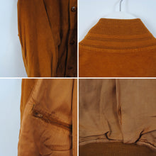 Load image into Gallery viewer, Vintage Suede Bomber Leather Jacket In Brown Size EU 52 - L