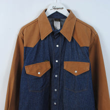 Load image into Gallery viewer, Vintage Duck Canvas & Denim Western Shirt Size L