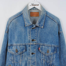 Load image into Gallery viewer, Vintage 80's Levi's Denim Trucker Jacket Size L