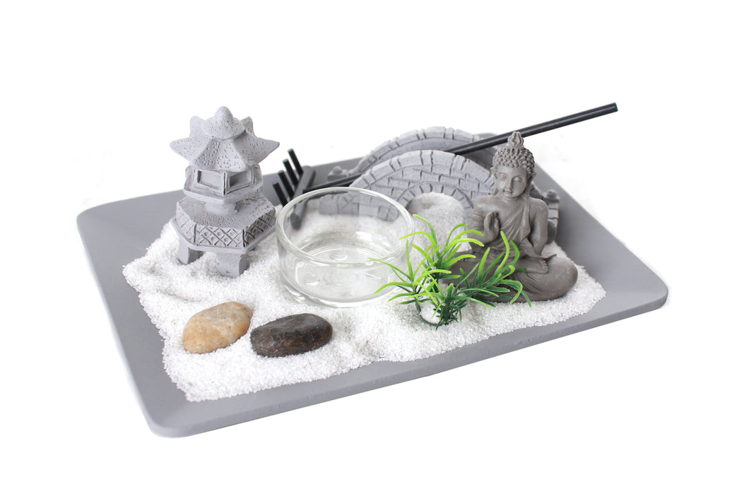 18 x 13cm Zen Garden Candle Holder