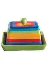 Load image into Gallery viewer, Rainbow Ceramics - Butter Dish