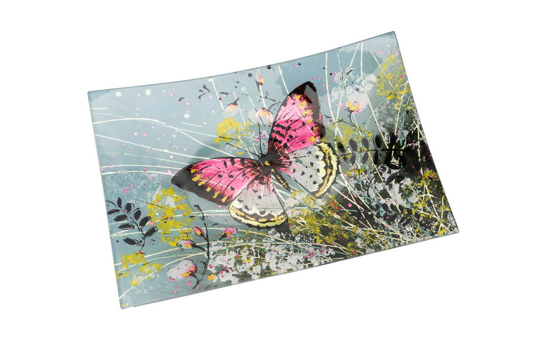 Papillon Glass Rectangular Dish