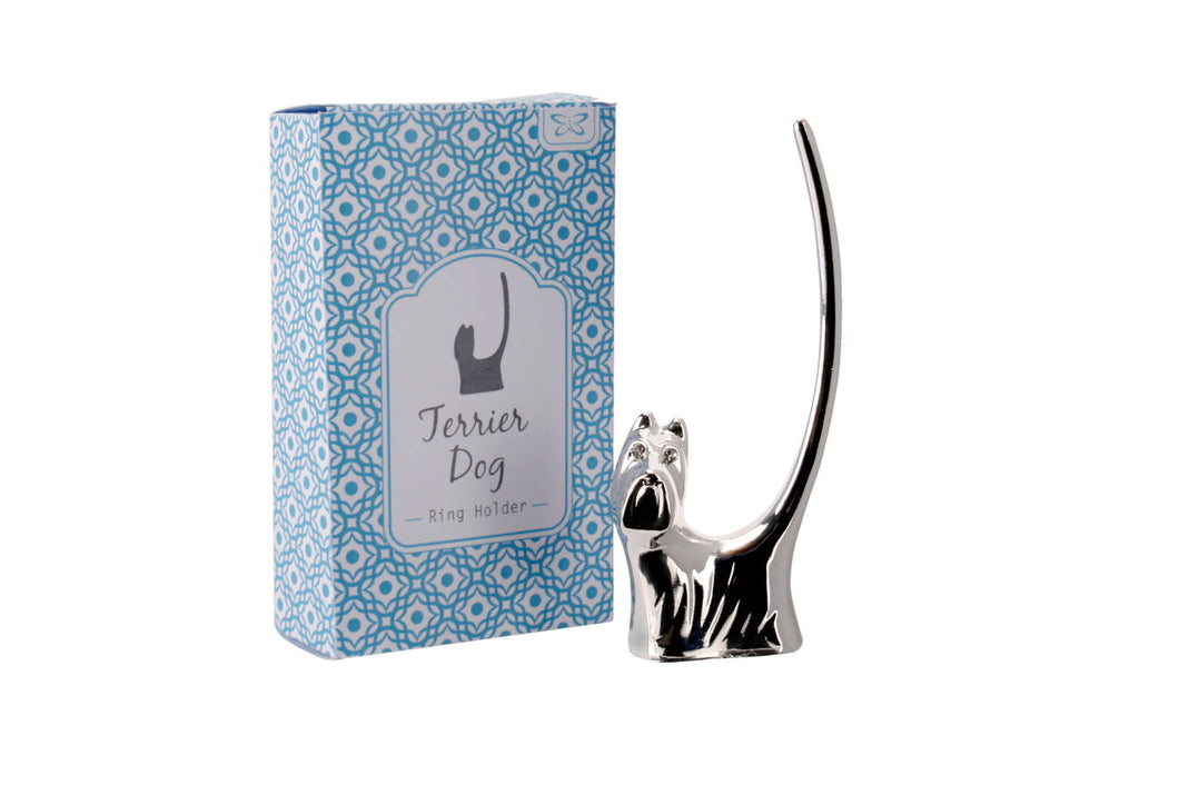 Terrier Dog Ring Holder