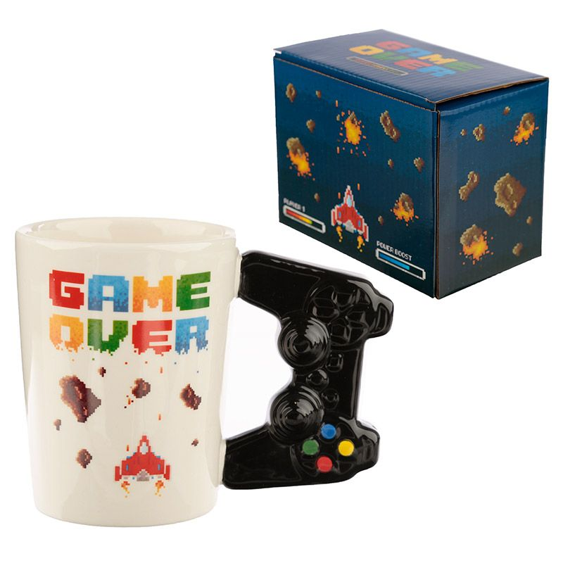 Game Over Mug with Pixel Decal