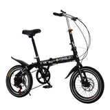 Bicycle 16inch foldable bike stable and firm suit for child and adult\special design\portable\7-speed control