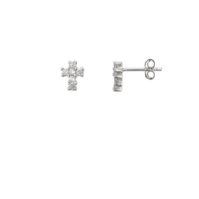 Classic Crystal Cross Stud Earrings | Tesori Bellini | Womens Jewellery Melbourne