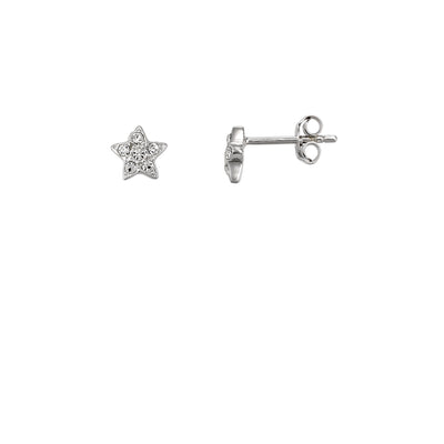 Crystal Star Studded Star Stud Earrings | Tesori Bellini | Womens Jewellery Melbourne