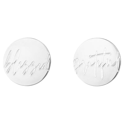 Blessed//Grateful Statement 1.2 Stud Earrings | Tesori Bellini | Womens Jewellery Melbourne