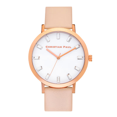 Bondi Luxe 43mm Watch by Christian Paul - Rose Gold / Peach | Tesori Bellini | Womens Jewellery Melbourne