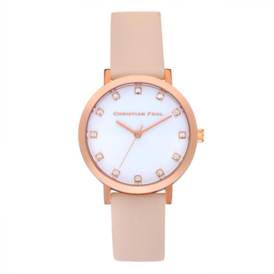 Bondi Luxe 35mm Watch by Christian Paul - Rose Gold / Peach | Tesori Bellini | Womens Jewellery Melbourne