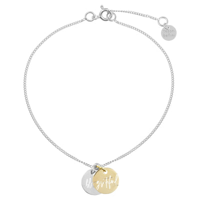 Blessed//Grateful Twin Charm 1.0 Bracelet | Tesori Bellini | Womens Jewellery Melbourne