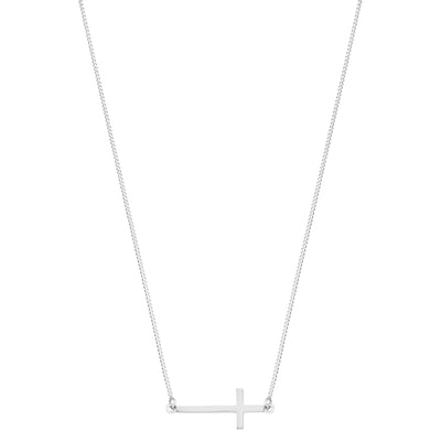 Like A Prayer, (horizontal cross) Necklace | Tesori Bellini | Womens Jewellery Melbourne
