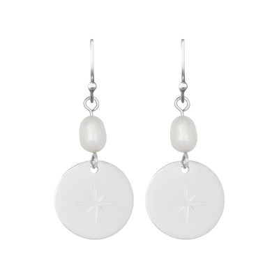 North Star Pearl Drop 1.6 Earring | Tesori Bellini | Womens Jewellery Melbourne