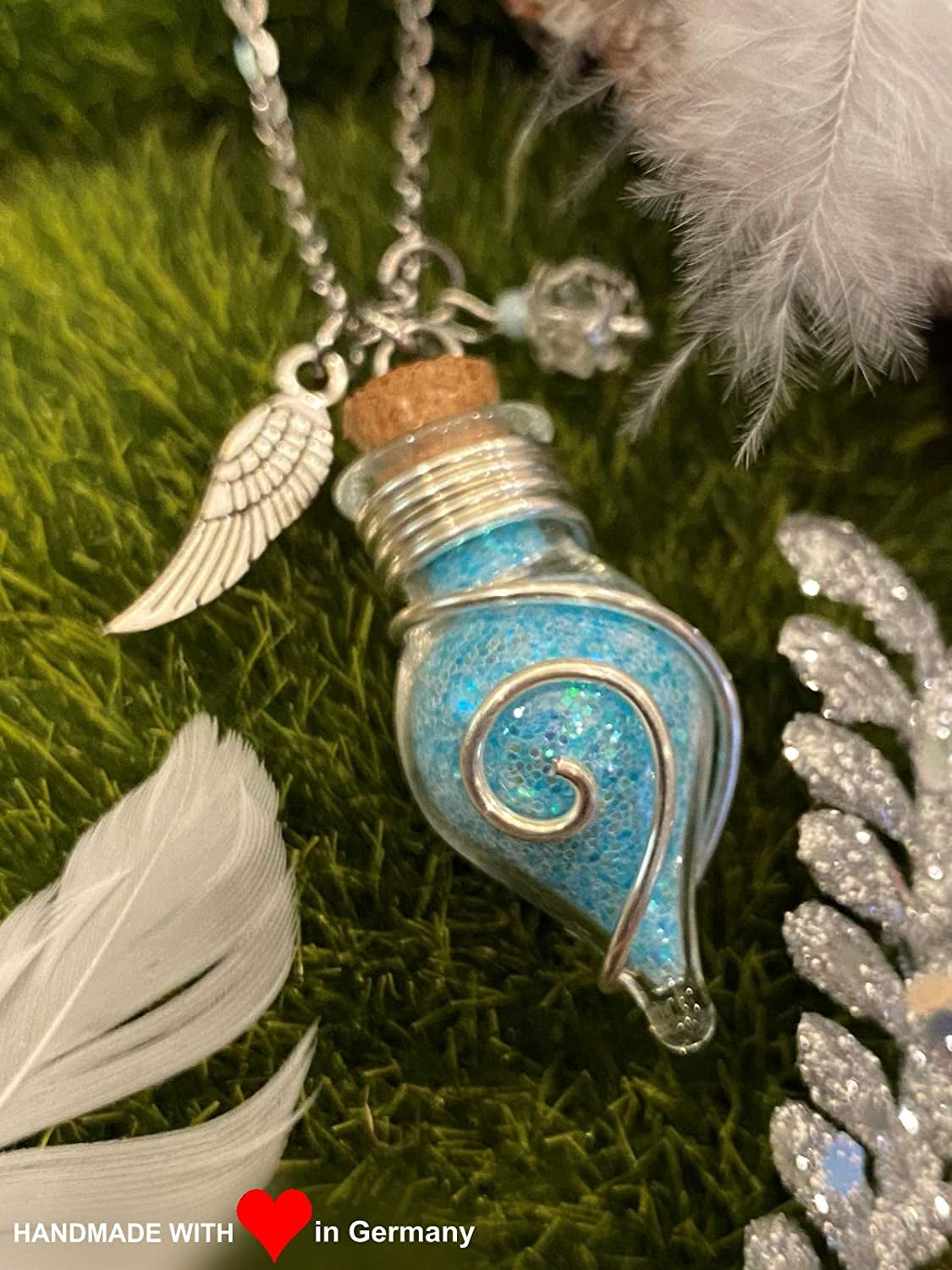 Glitter Angel Wing Necklaces