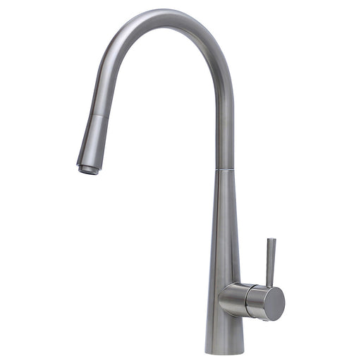 ISABELLA Deluxe Gooseneck Pull-out Kitchen Mixer  - Brushed Nickel