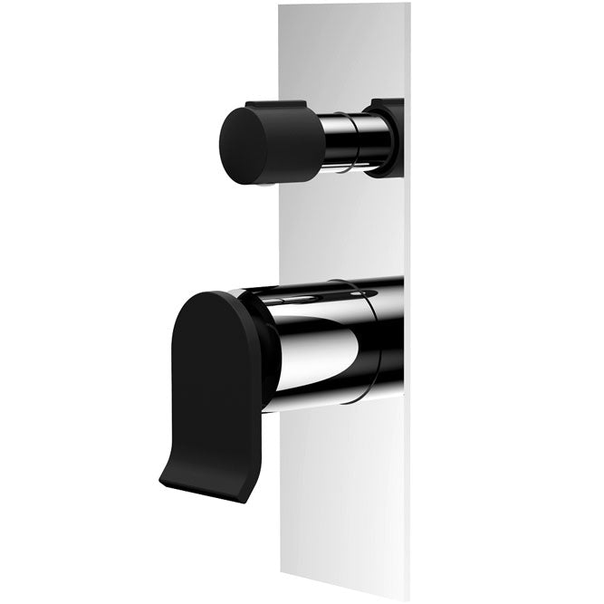 Fienza Lincoln Wall Mixer Diverter, Mixed Finish