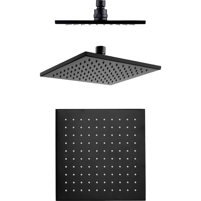 Fienza Modena Matte Black Rain Shower Head
