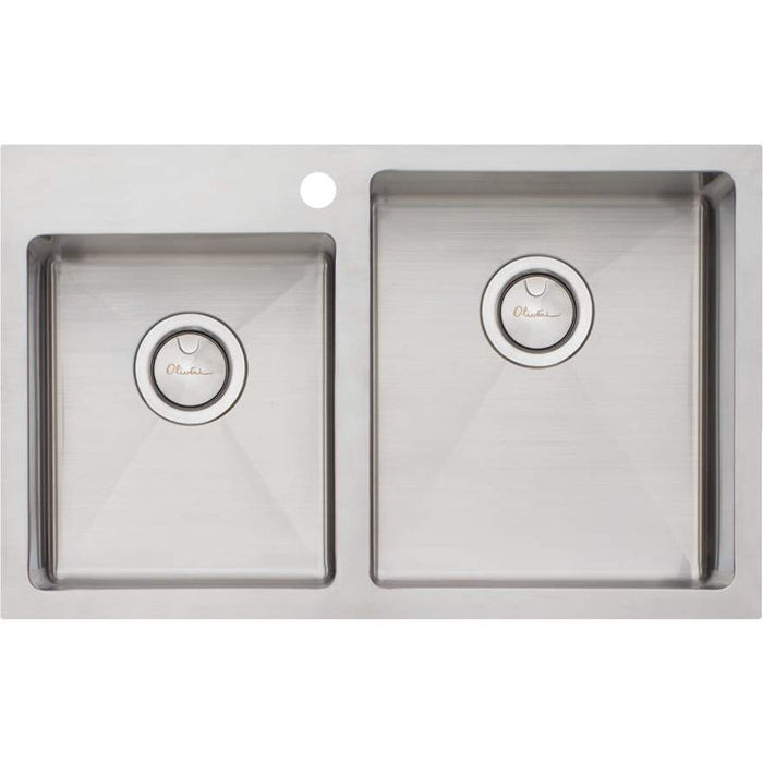 Oliveri Apollo 1 & 3/4 Left Offset Bowl Sink
