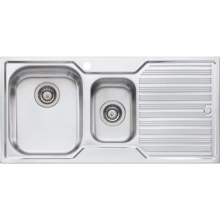 Oliveri Diaz 1 & 1/2 Bowl Sink With Right Hand Drainer