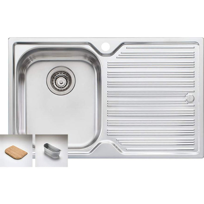 Oliveri Diaz Single Bowl Sink with Right Hand Drainer