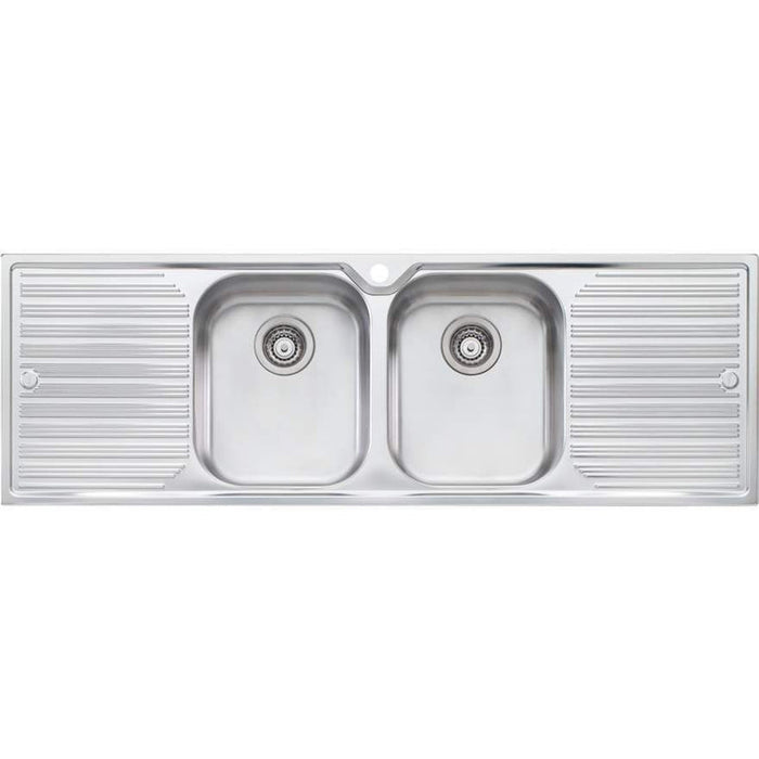 Oliveri Diaz Double Bowl Sink With Double Drainer