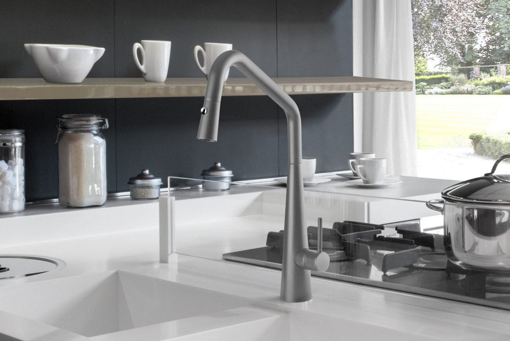 Linsol Elias Grey Wolf Pull Down Kitchen Mixer