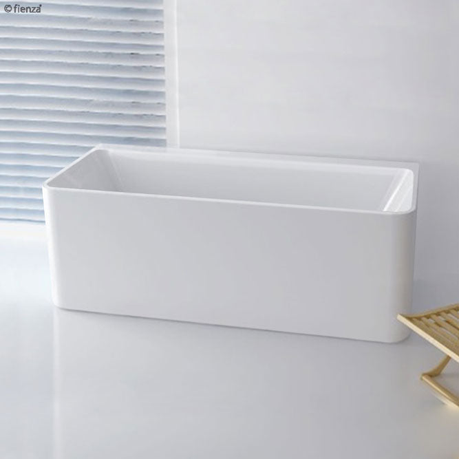Fienza Delta 1700mm Back-To-Wall Acrylic Bath