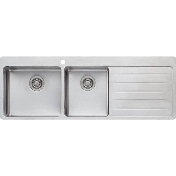 Oliveri Sonetto 1 & 3/4 Bowl Topmount Sink With Right Hand Drainer