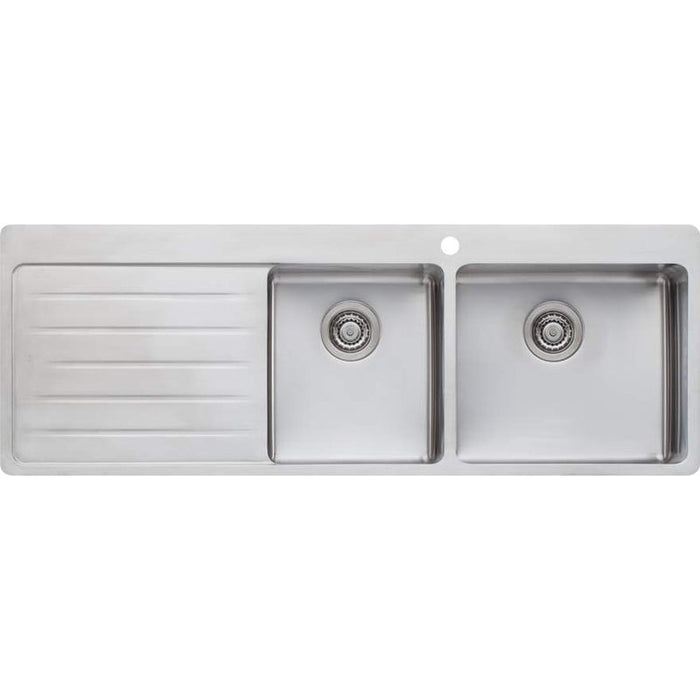 Oliveri Sonetto 1 & 3/4 Bowl Topmount Sink With Left Hand Drainer