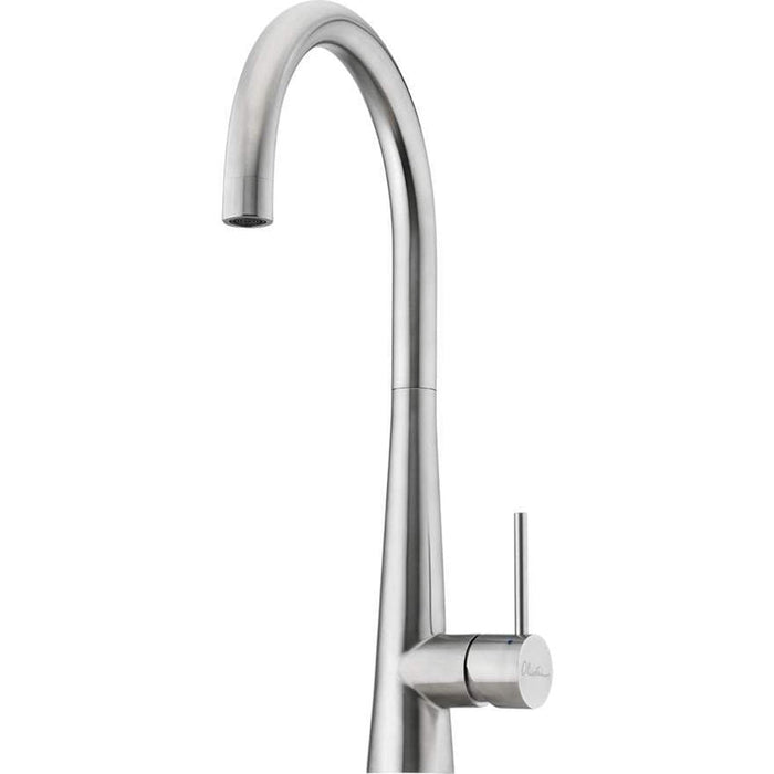 Oliveri Essente Stainless Steel Goose Neck Mixer