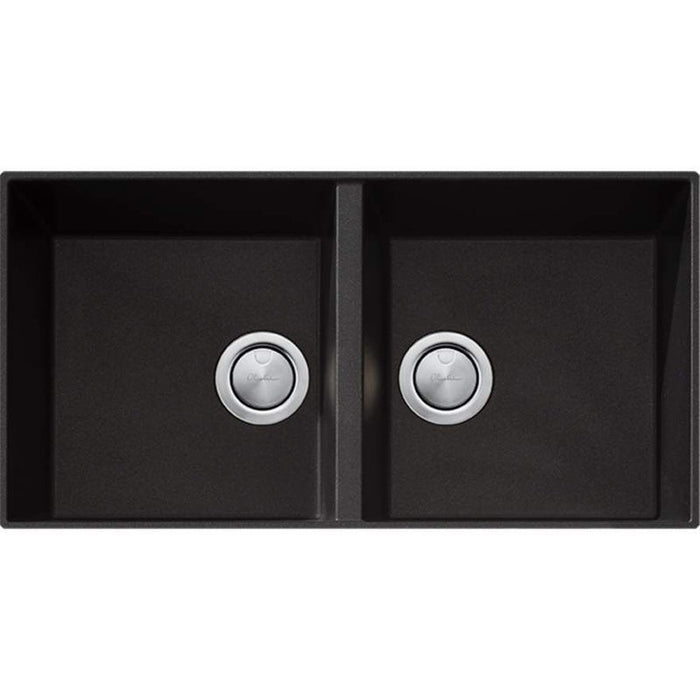 Oliveri Santorini Black Double Bowl Undermount Sink