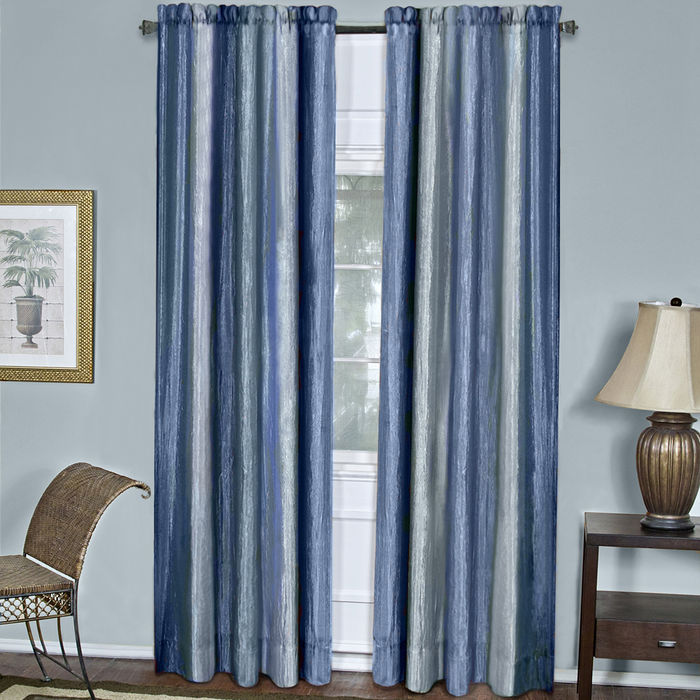 "Achim Home Furnishings - Ombre Window Curtain Panel 50"" x 63"" - Blue"