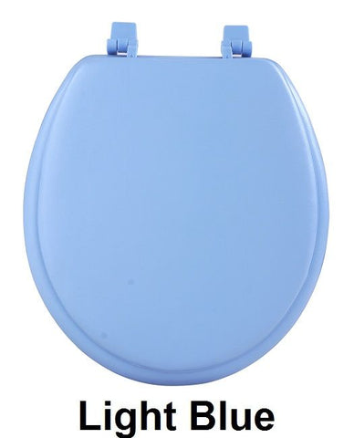 Achim Home Furnishings - Fantasia 17 Inch Soft Standard Vinyl Toilet Seat
