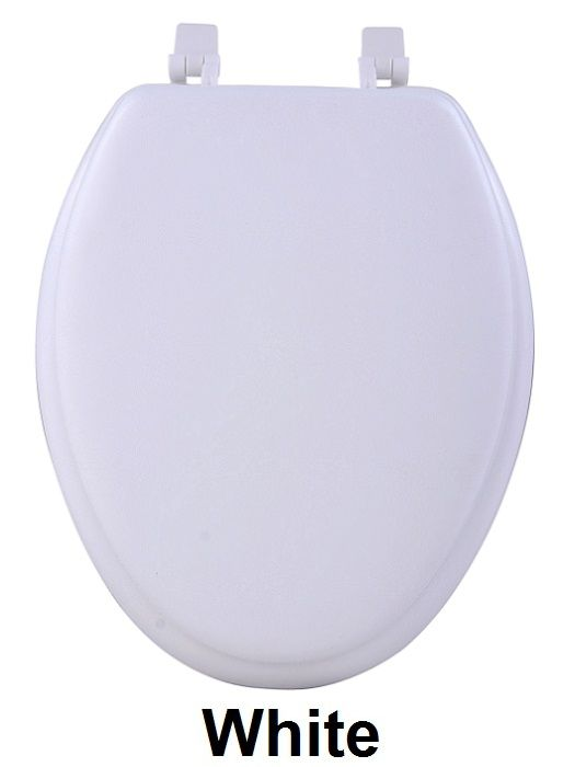 Achim Home Furnishings - Fantasia 19 Inch Soft Elongated Vinyl Toilet Seat