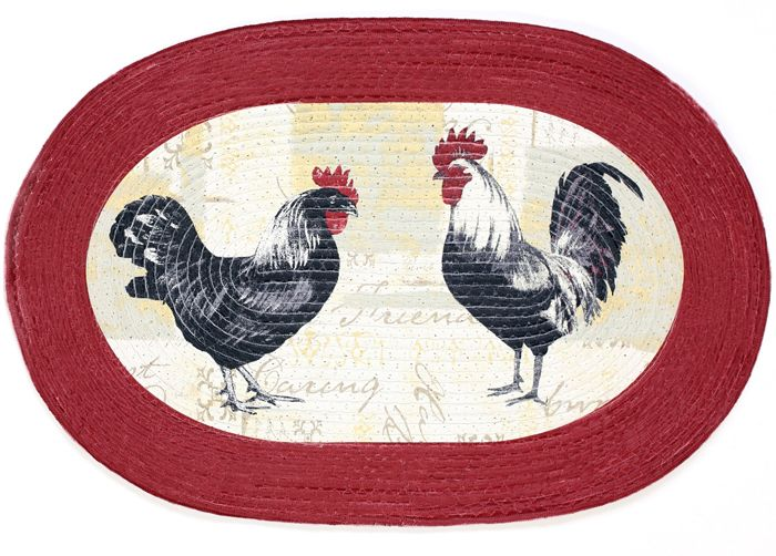 Achim Home Furnishings - Braided Thermal Rug - Rooster