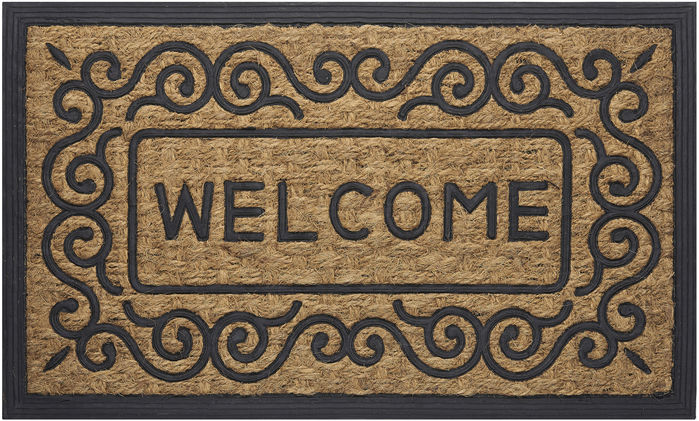 Achim Home Furnishings - Coco Mat 18 x 30 Inches - Scroll