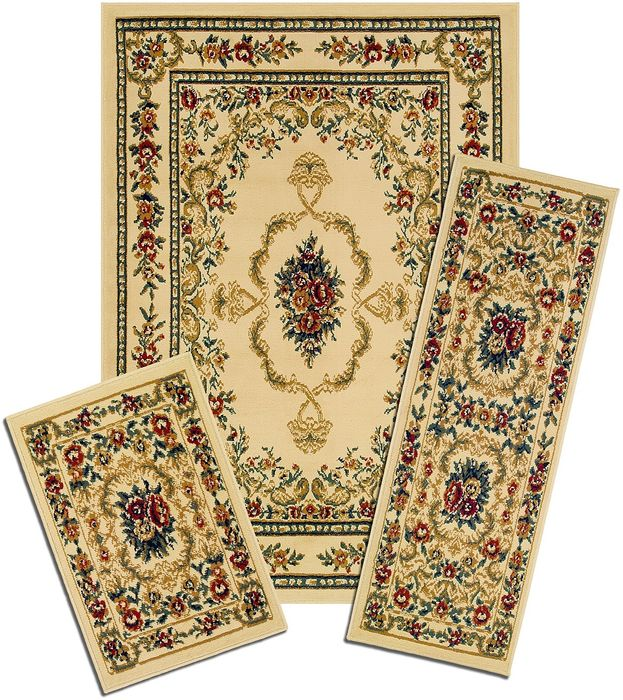 Achim Home Furnishings - Capri 3 Piece Rug Set - Savonnerie