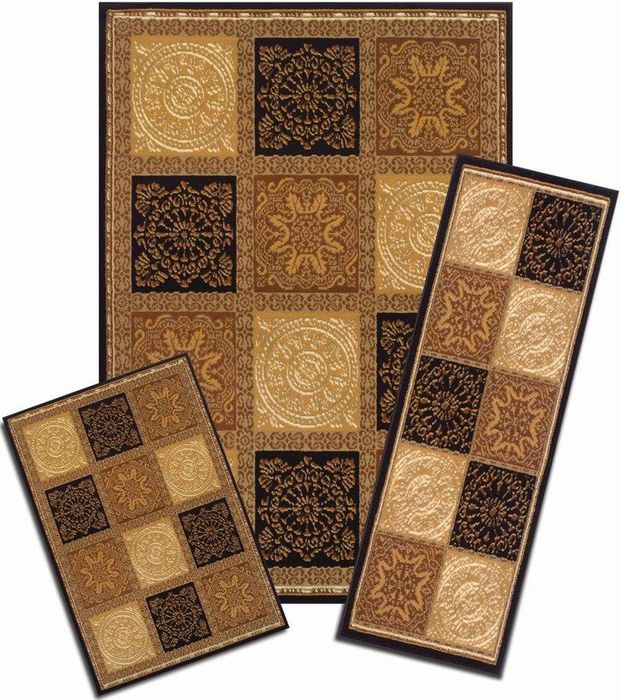 Achim Home Furnishings - Capri 3 Piece Rug Set - Sarouk Squares