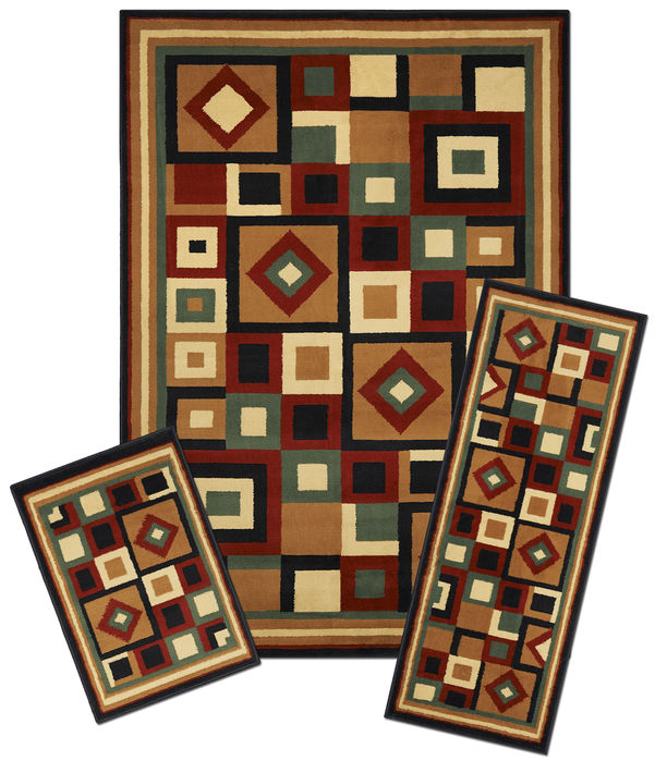 Achim Home Furnishings - Capri 3 Piece Rug Set - Chelsea