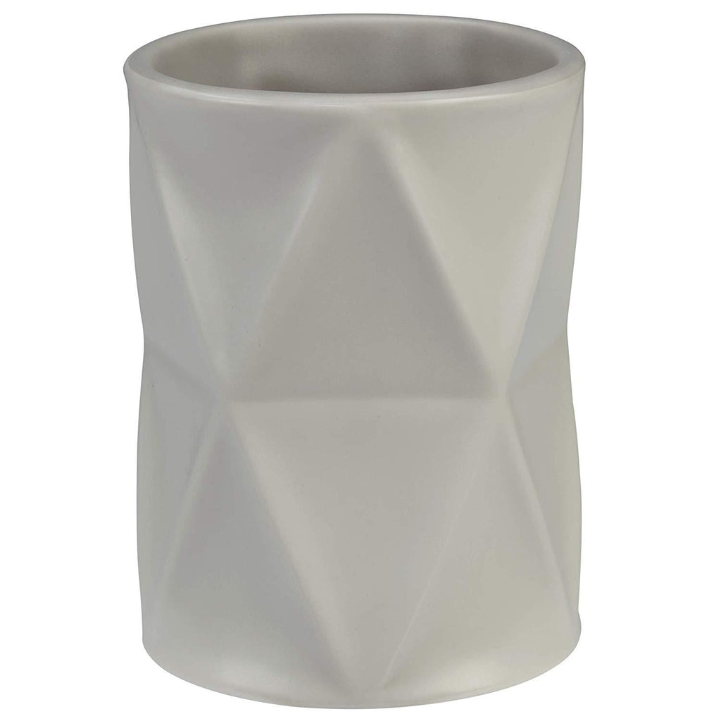 Creative Bath - Ceramic Bathroom Accessories Sets, Ceramic Tumbler - Triangles Design