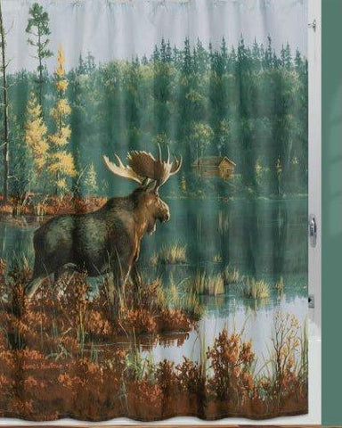 "Creative Bath Products Inc. - Back Bay Moose Shower Curtain, 72"" x 72"""