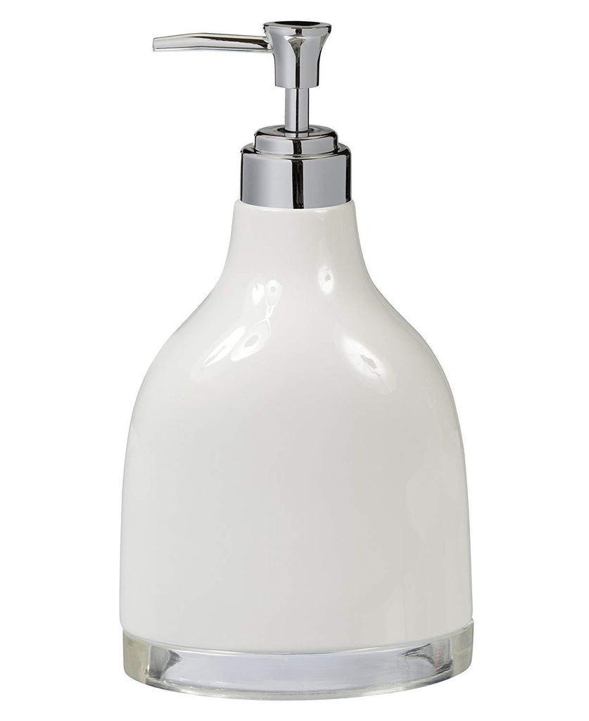 Creative Bath Products Gem Lotion Dispenser, White