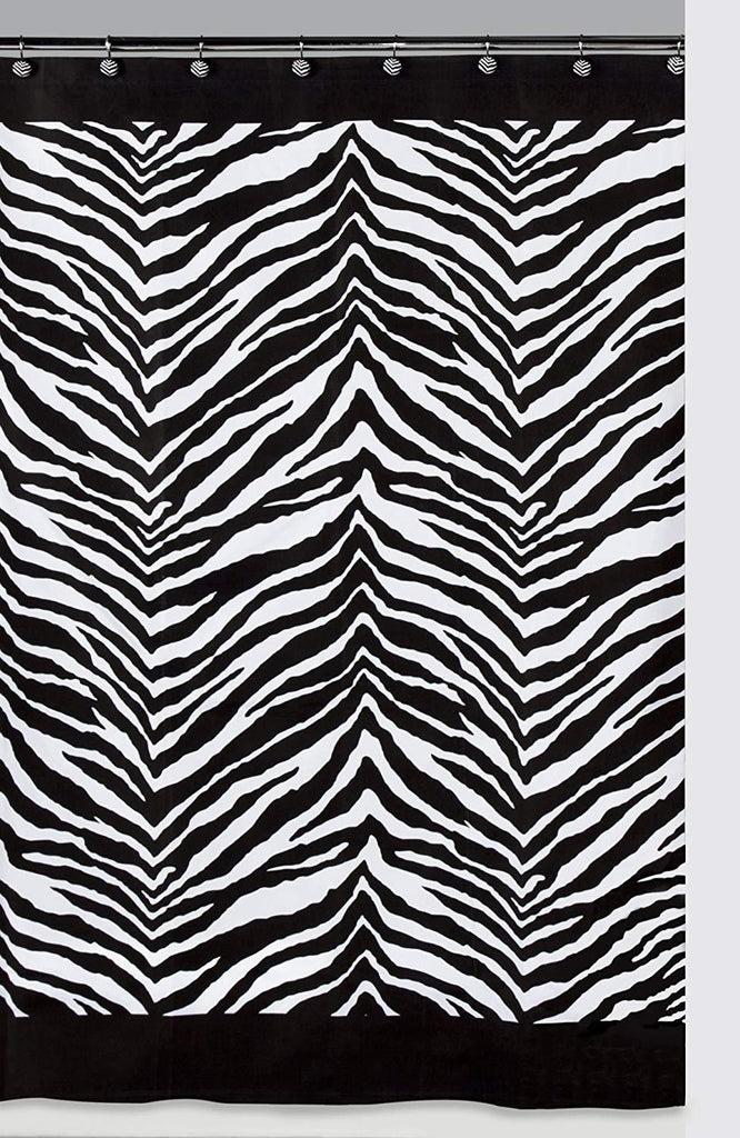 Creative Bath Products Inc. - 100% Polyester Shower Curtain, Zebra Black IMPORTED