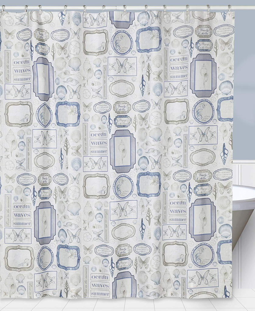 Creative Bath Products Inc. - Seaside 100% Polyester Durable Shower Curtain IMPORTED