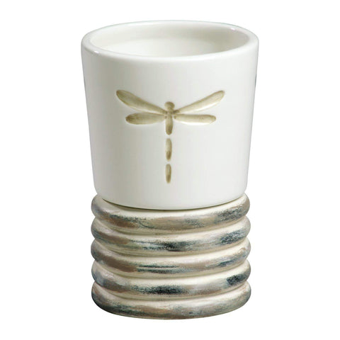 Creative Bath - Bathroom Accessories Sets Ceramic/Wood Tumbler - Dragonfly