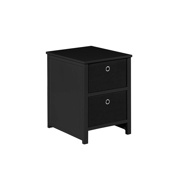 "Achim Home Furnishings - EZ Home Solutions Folding Furniture 2 Drawer Night Stand 22"" x 16"" x 19"""